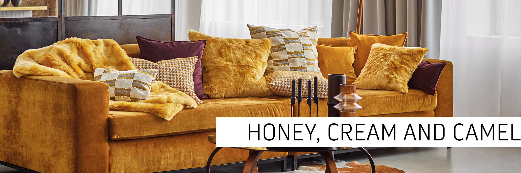 Honey, cream and camel